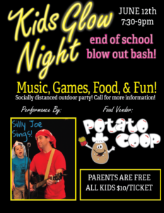 Kids Glow Night - Music, Games, Food and Fun! Free for Parents!