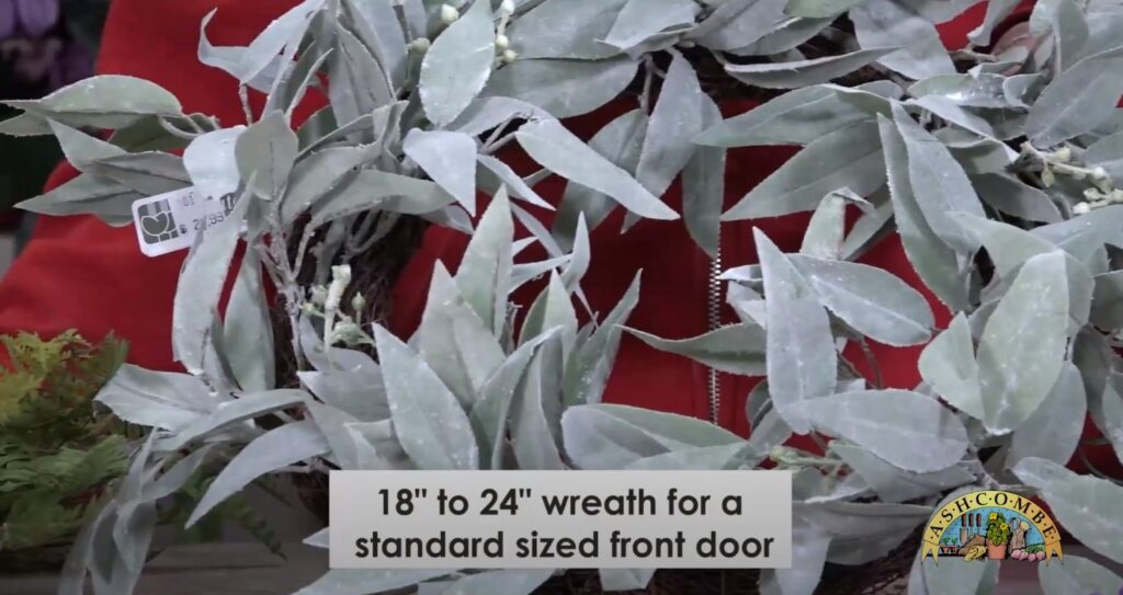 "18"" 24"" spring wreath for a standard sized front door"
