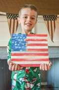 Fourth of July Popsicle Stick Pallette