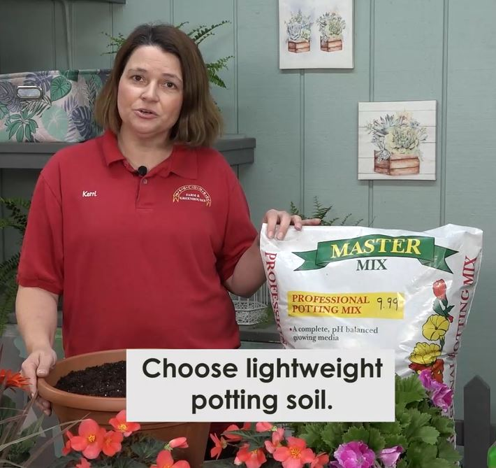 Lightweight potting soil like Master Mix